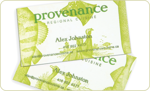 Provenance Business Cards