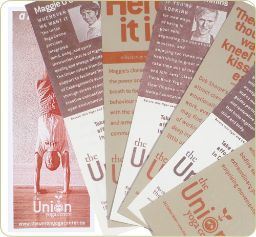 Letterpress and offset printed flyers for the Union