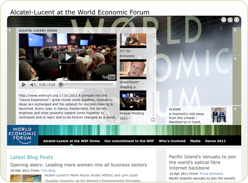 Alcatel Lucent at the World Economic Forum Home Page