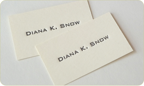 Diane K. Snow Letterpress Cards